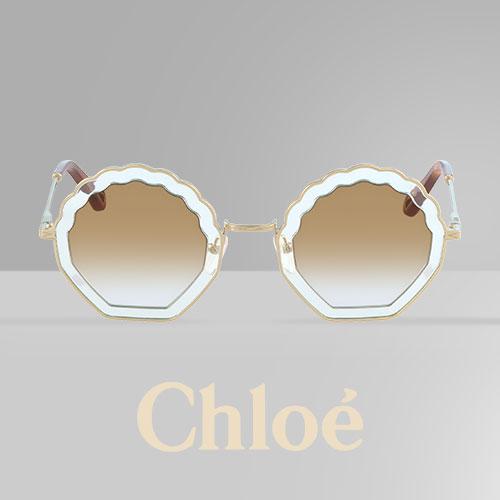 ecef4315db3e4c Tally zonnebril van Chloé  uniek en elegant in de vorm van een zeeschelp